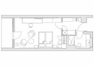 Economy-Zimmer Grundriss