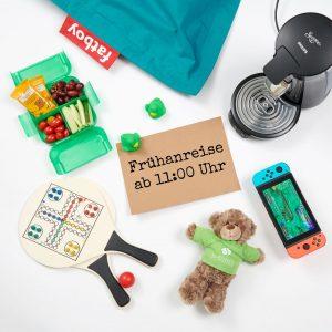 Beach Game Lunch Paket Teddy Bär Nintendo Senseo Kaffeemaschine Anreisetag